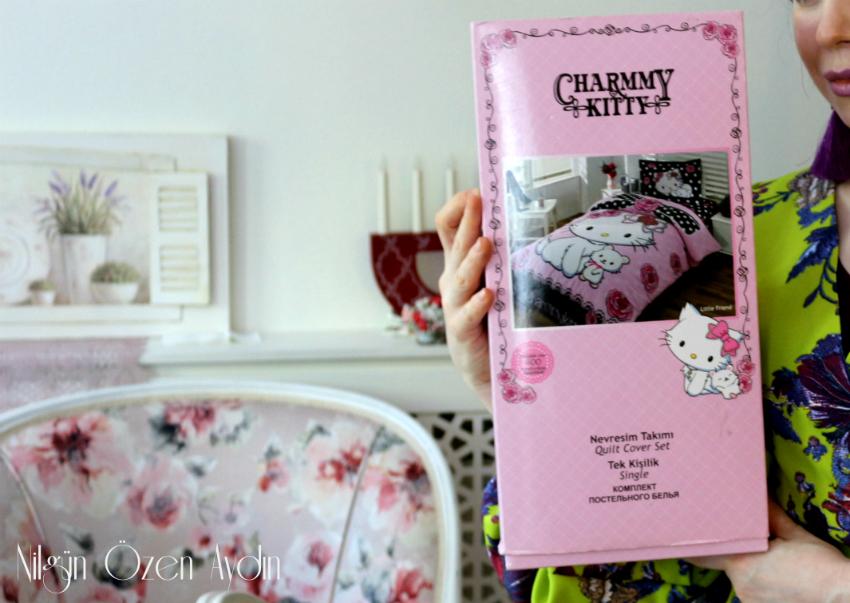 alışveriş-Hello Kitty Tek Kişilik Nevresim Takımı-Karakter Dükkanı