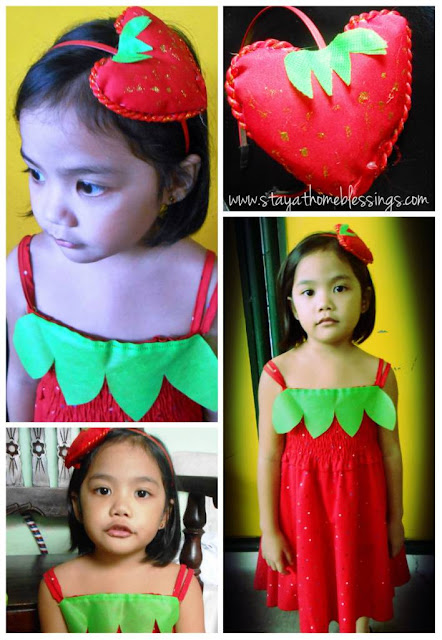 Strawberry Costume for a girl
