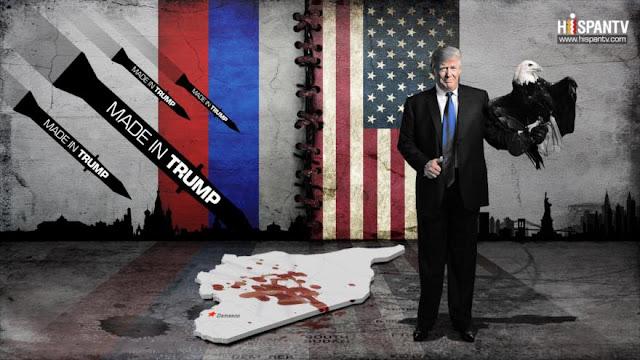 Los misiles made in Trump caen sobre Siria