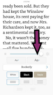 How to Enlarge Letters in Kindle