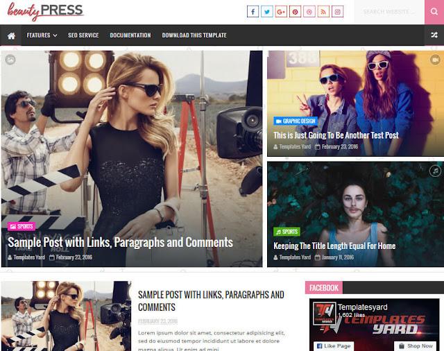 قالب  BeautyPress لمواقع الإخبارية ومجلات