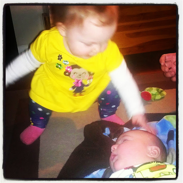 Babies Wyatt and Audrey