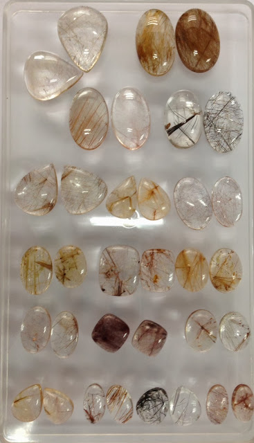 Rutile Quartz Pair set