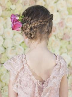 peinado con trenzas niña