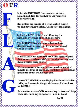 Flag day poetry 2017
