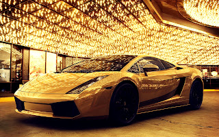Golden Lamborghini Gallardo Luxery Car HD Wallpaper