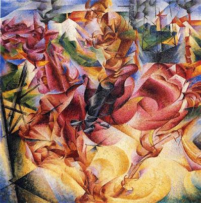 Umberto Boccioni, elasticità, 1912
