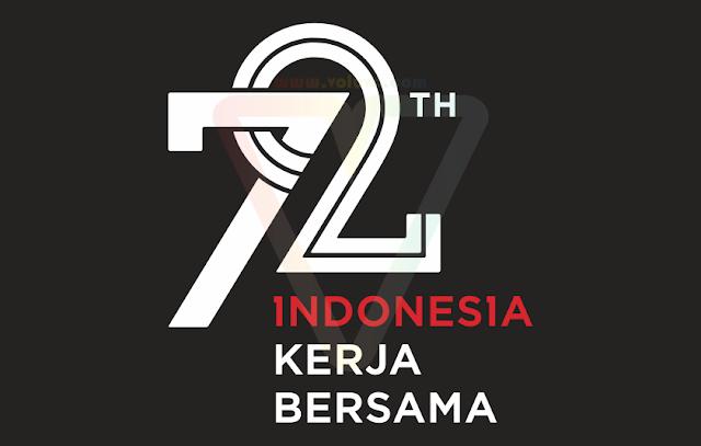 logo hut ri ke-72 indonesia sekunder latar hitam | vector (cdr/ai