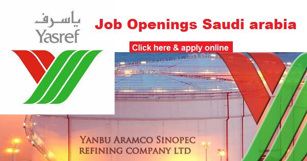 YASREF YANBU REFINING COMPANY JOB OPENING | SAUDI ARABIA
