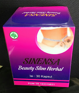 Jual Sinensa Beauty Slim Herbal Suplemen Pelangsing Plus Pemutih BPOM