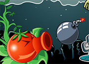 Red Peashooter Vs Zombies 2 juego