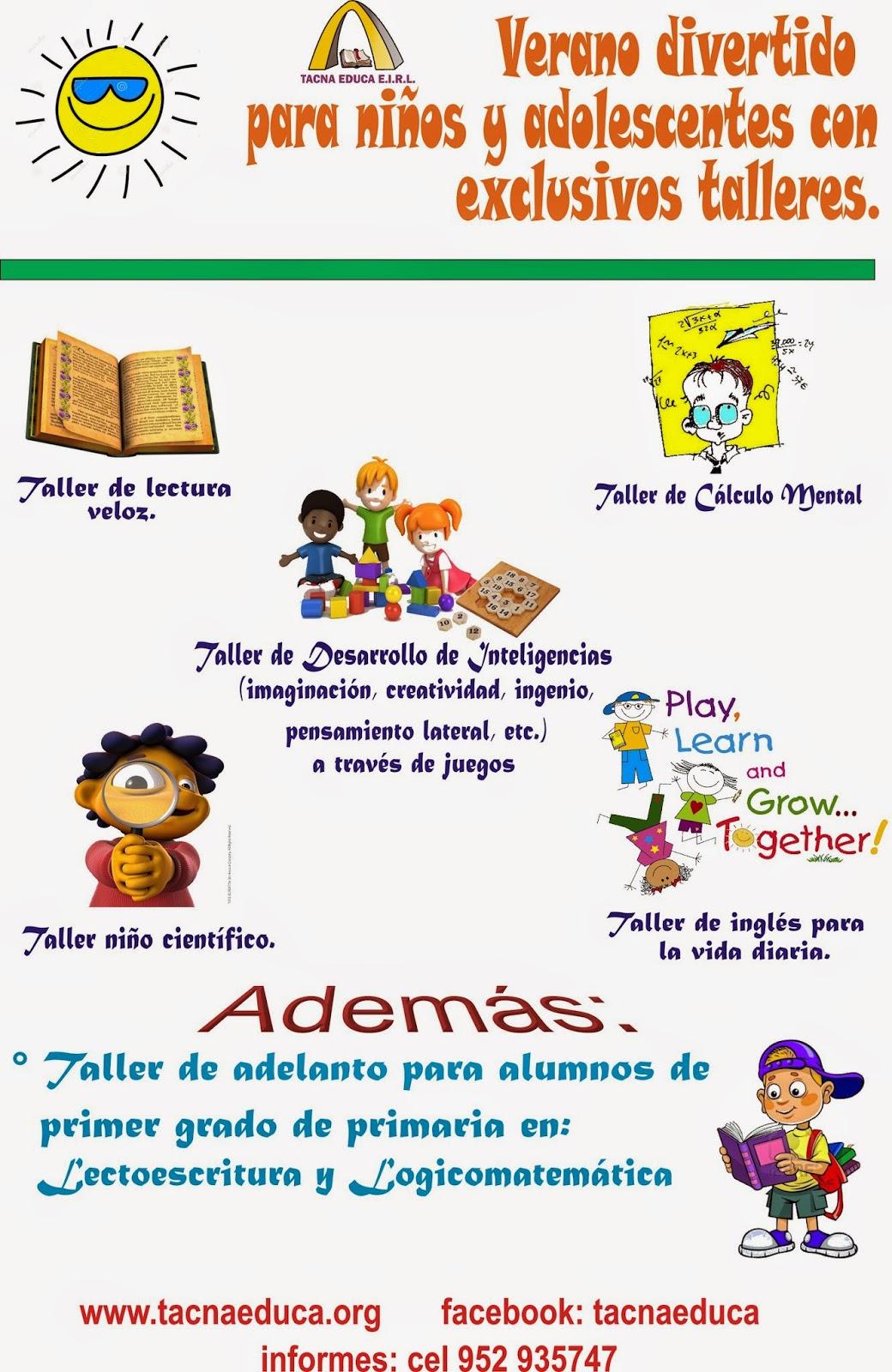 VERANO DIVERTIDO PARA NIÑOS Y ADOLESCENTES ~ TACNA EDUCA E.I.R.L. b20fb54eb00