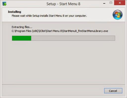 ขั้นที่ 5 โปรแกรมเปลี่ยน Start Menu บน Windows 8.1 กำลังติดตั้ง โปรดรอ...