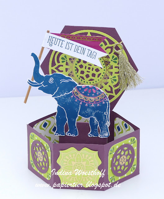 Orientpalast | Eastern Palace | papiertier Indina | Pop-Up Card |Lucky Elephant | Stampin Up 2017/18