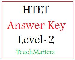 image : HTET Answer Key 2021 - Level-2 TGT @ TeachMatters