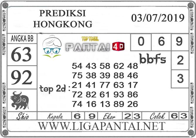 """PREDIKSI TOGEL """"HONGKONG"""" PANTAI4D 3 JULI 2019"""