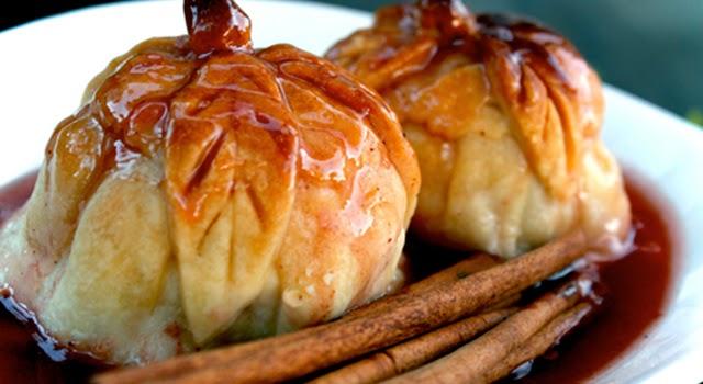 Manzanas asadas con canela y almíbar paso 0