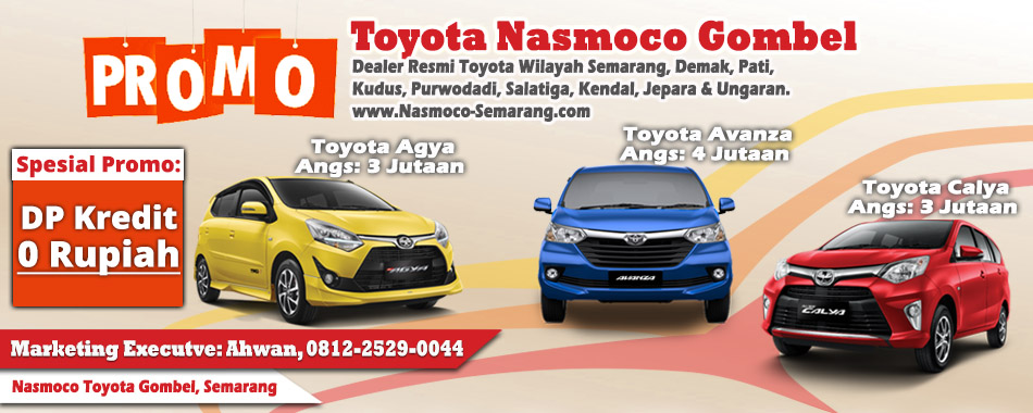 Kredit Mobil Toyota Semarang Uang Muka Dp 0 Rupiah Nasmoco Toyota Gombel Semarang