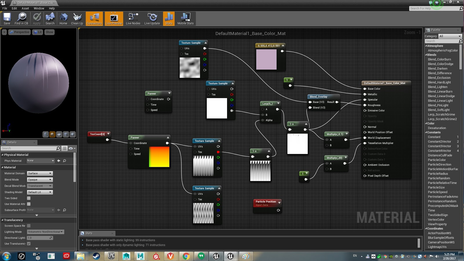 Some Fancy UE4 Material Blueprints   Andrew Dowell