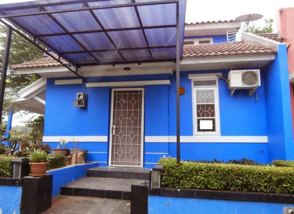 Baru 22+ Contoh Cat Depan Rumah Warna Biru
