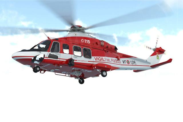 Leonardo consegna ai Vigili del Fuoco i primi due elicotteri AW139