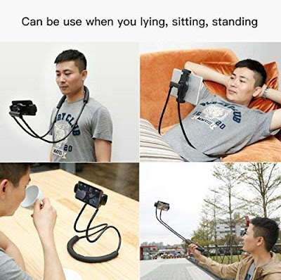 Flexible 360° Degree Rotation Hanging Neck Lazy Mobile Phone Tablet Holder