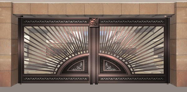 Main gate design catalog decision making got easy - Sliding main gate design for home ...