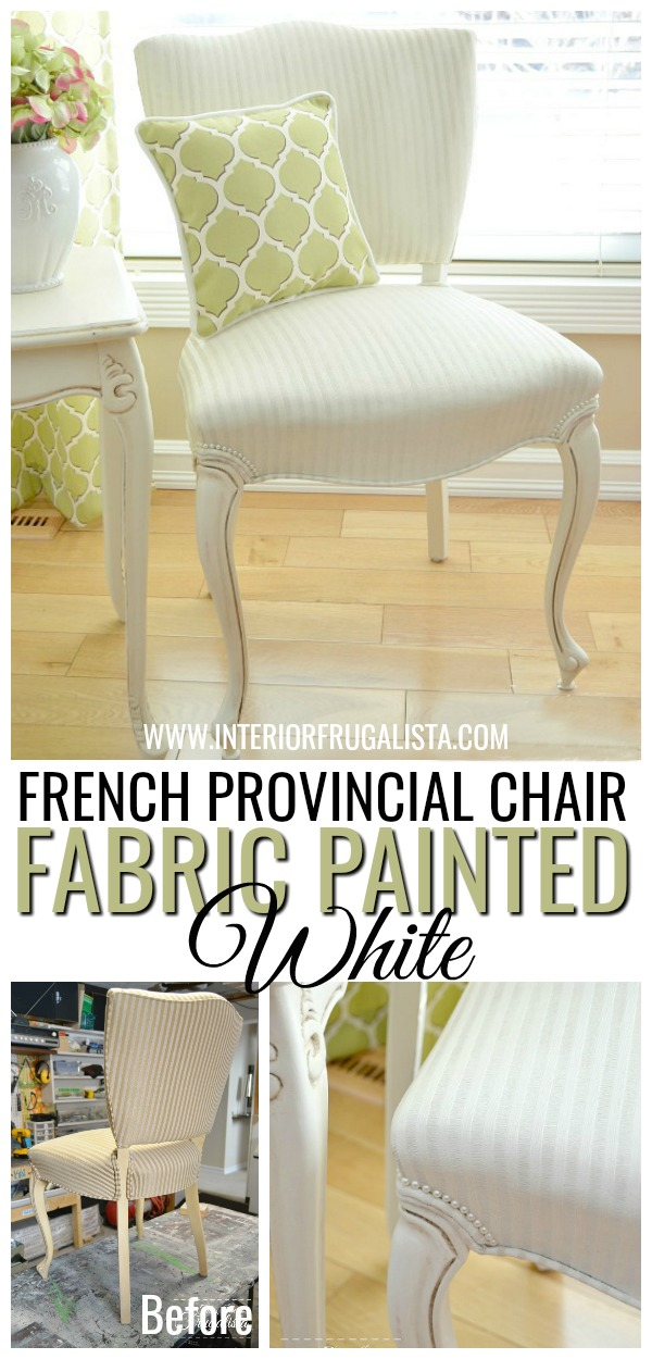 French Provincial Chair Painted White