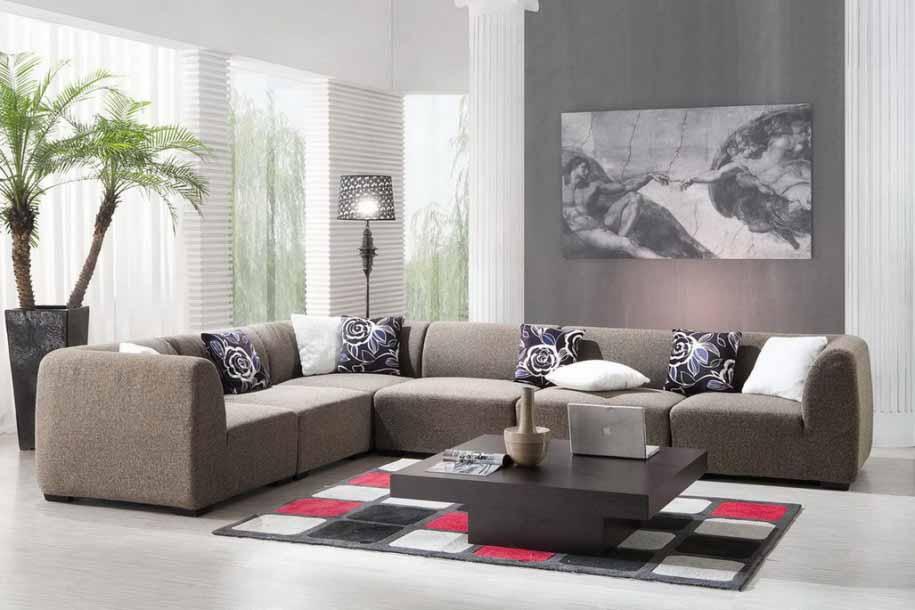 Sofa Warna Abu Putih