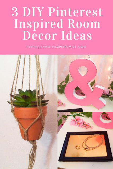3 Cute DIY Pinterest Inspired Room Decor Ideas