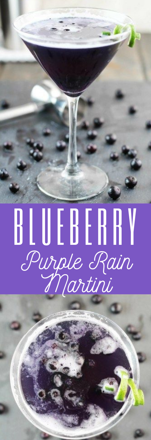 BLUEBERRY PURPLE RAIN MARTINI #drink #ice