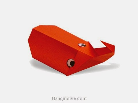 Cách gấp, xếp con Bọ Cánh Cứng bằng giấy origami - Video hướng dẫn xếp hình côn trùng - How to fold a stag beetle 3