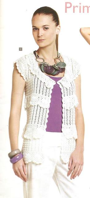 Patrón #1625: Chaqueta a Crochet.