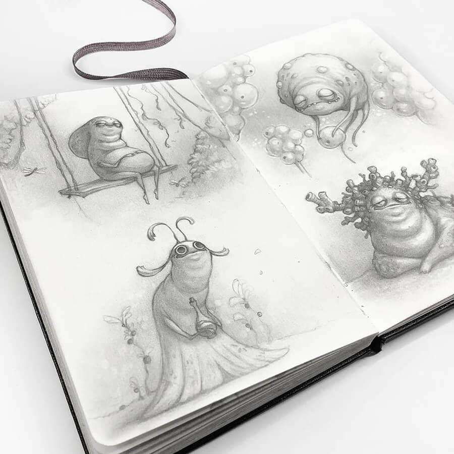 11-Drawings-of-Creatures-Stella-Bialek-www-designstack-co