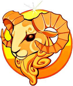Imagen de un Carnero dorado que representa al signo zodiacal de Aries