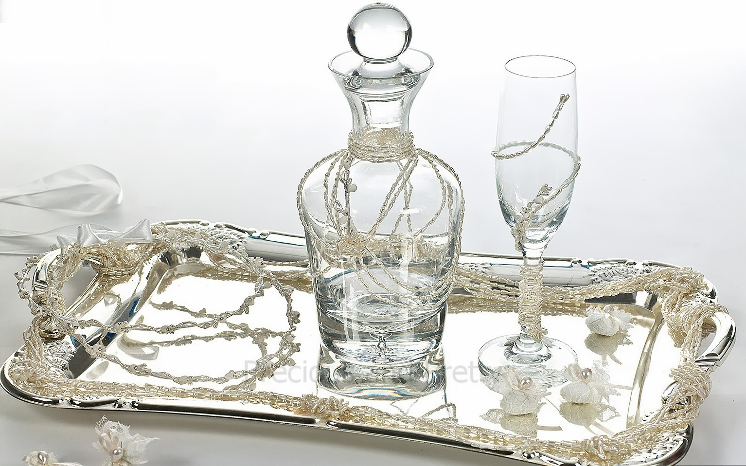 Carafe wine set made in Greece vintage style