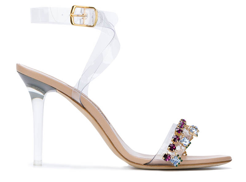 Manolo Blahnik x Rihanna Purple Chalice Sandals