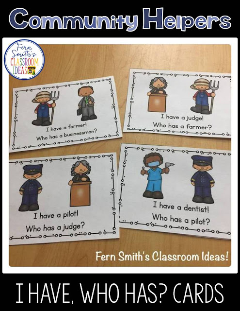 Community Helpers are a HIGH INTEREST subject that students love to learn about! Social Studies, Reading and Community Awareness all rolled into one which many students already have previous knowledge of, and therefore are very successful!   Ideas for teaching community helpers, lesson plans and resources at #FernSmithsClassroomIdeas