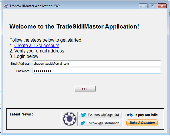 Phat Lewts' Gold Blog: Installing and Setting up the TSM App