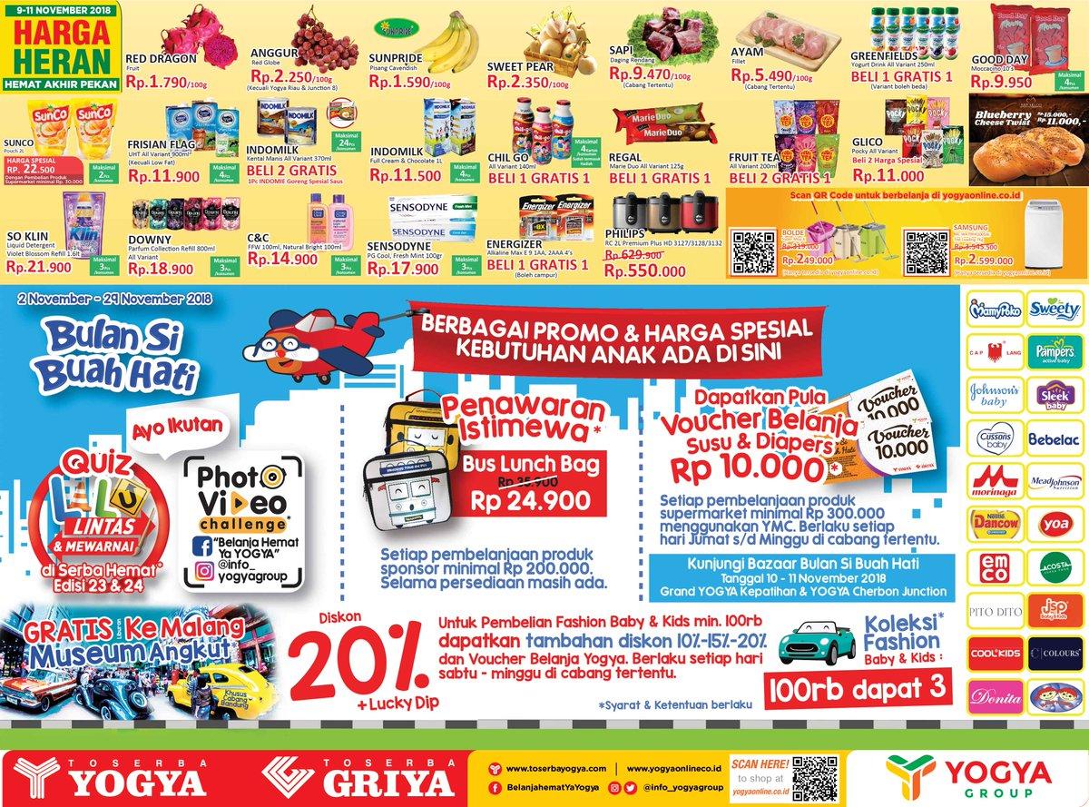 Yogya - Promo Katalog Harga Heran Periode 09 - 11 November 2018