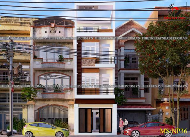 Mẫu thiết kế nhà ống 2 tầng 5x20 đẹp tại tỉnh Kiên Giang Thiet-ke-nha-ong-2-tang-d