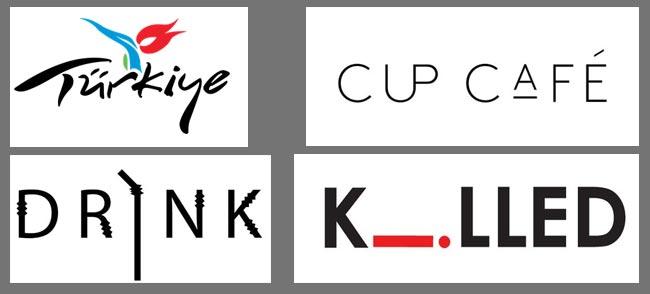 Somut ve Soyut Formlardan Oluşan Logotype'lar