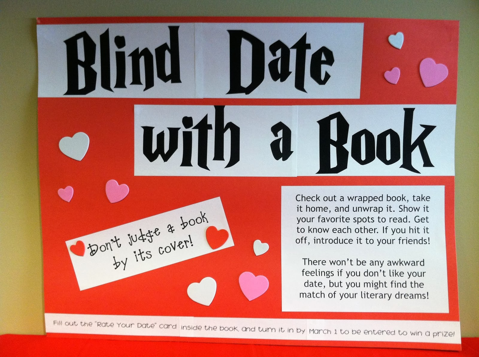 The Lion is a Bookworm: Display: Blind Date with a Book