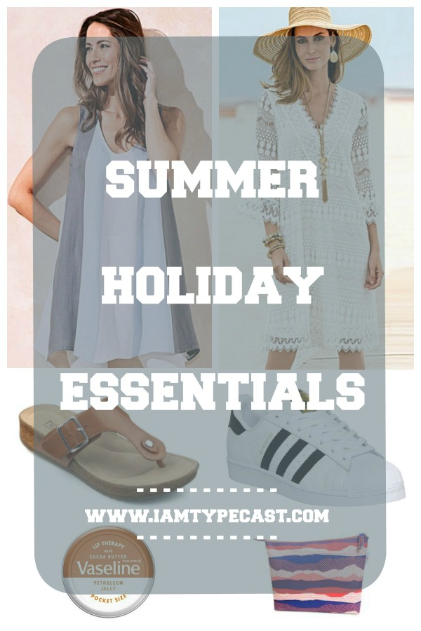Summer Holiday Essentials - www.iamtypecast.com - Over the next few weeks I'm preparing my summer holiday essentials by creating a capsule wardrobe, mix-and-match footwear and looking at beauty essentials so I can travel light yet functional.
