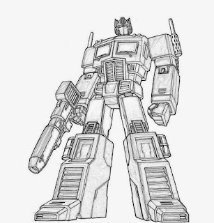 Gambar Mewarnai Robot 22