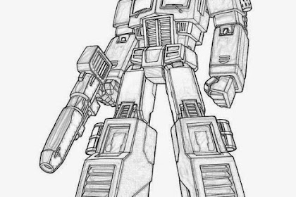 Mewarnai Gambar Robot Transformer