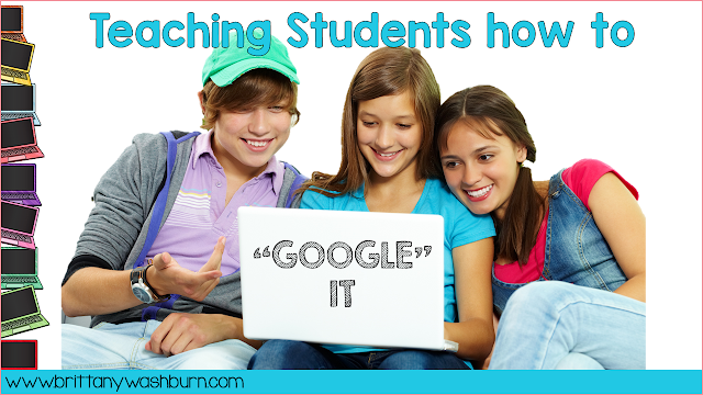 """Teaching Students how to """"Google It"""" to Learn Online Research Skills"""