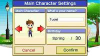 Setting karakter utama