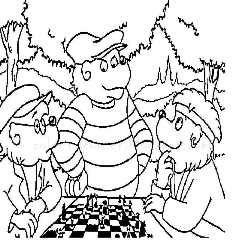Berenstain Bears Treehouse Coloring Page Coloring Pages
