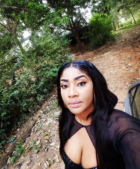 Angela Okorie shares sultry pictures from nature park visit